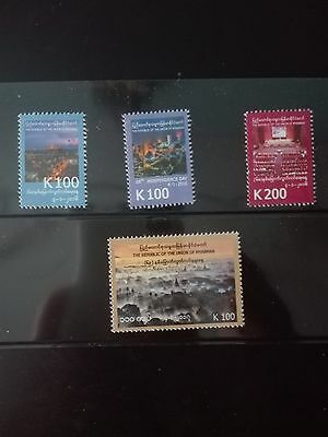 Mint Myanmar Burma stamps 68th and 69th  Anniversary of independence day