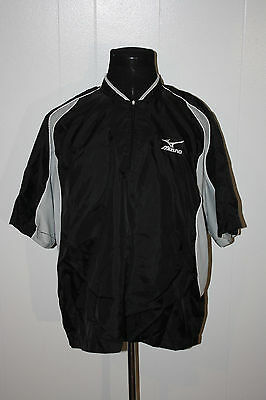 Mizuno Black Gray Pullover 1/4 Zip Short Sleeve Baseball Warm Up ...