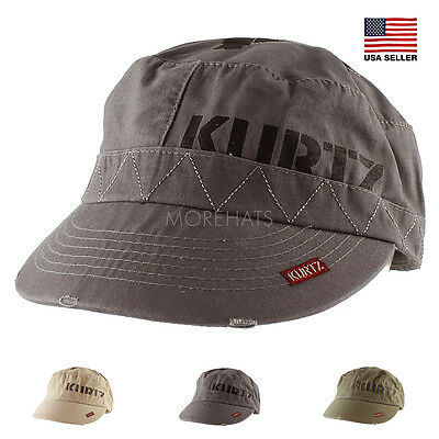 51f0ca80640 Authentic A Kurtz Vintage Military Army Cotton Baseball Cap Hat Women Men  Unisex