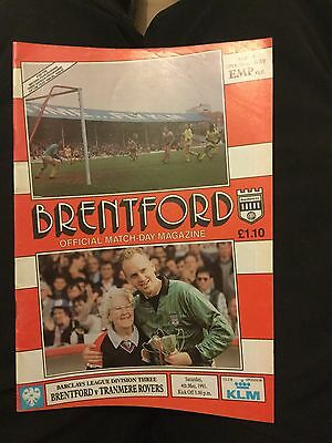 Brentford V Tranmere Rovers 4 May 91 Div 3