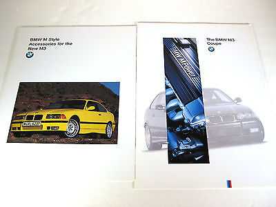 Lot of 2 RARE 1994/1995 BMW M3 Coupe Brochure & BMW M Style Accessories Catalog