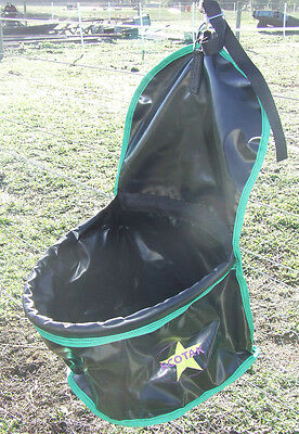 Ecotak PVC Portable Feed Bag - Black with Green Trim