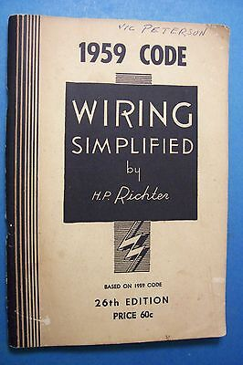 Vintage 1959 Code WIRING SIMPLIFIED by H.P. Richter