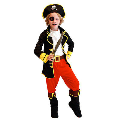 Trendy Kids Party Pirate Halloween Christmas Costume for Capain Jack Cosplay New