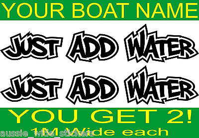 Fishing BOAT NAME Decal Stickers HUGE 1000mm Marine Vinyl Custom For Hull Cabin