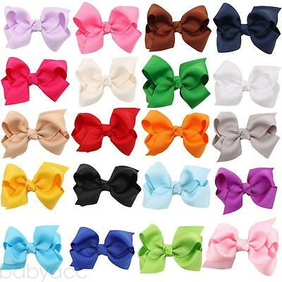 3 Inch Hair Bow Girls Kids Newborn Alligator Clips Headwear Bowknot Accessories