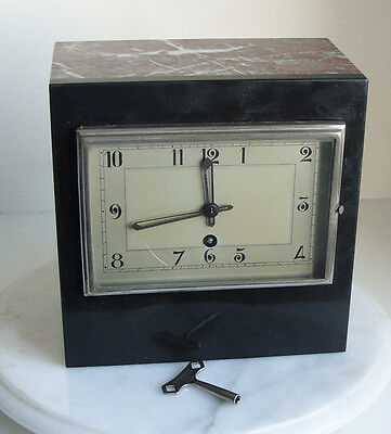 Antique MARTI 8 JOURS French Art Deco Marble Clock working