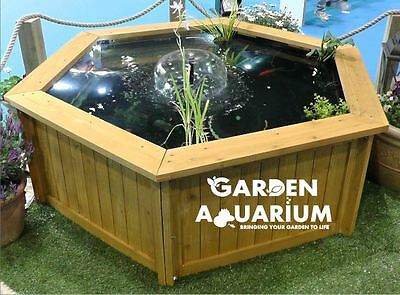 Raised Hexagon Garden Fish Pond / Water Feature (700 Liters)