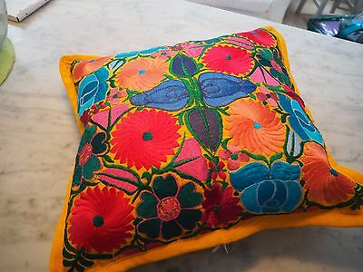 Hand embroidered cushions covers (Mexico) Mexican poinsettias
