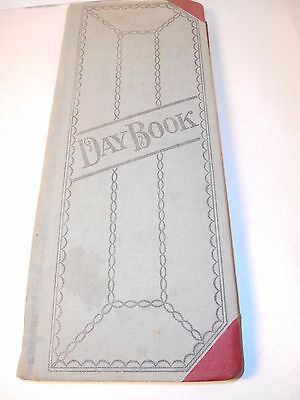 Vintage Day Book, Ledger, Account, Journal 15 inch
