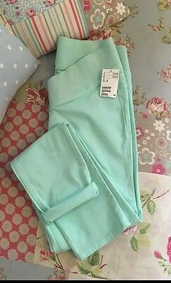 size 12/14 maternity jeans jeggings green new