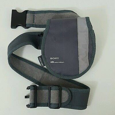 Official Sony Walkman Atrac CD player carry case with adjustable belt Discman