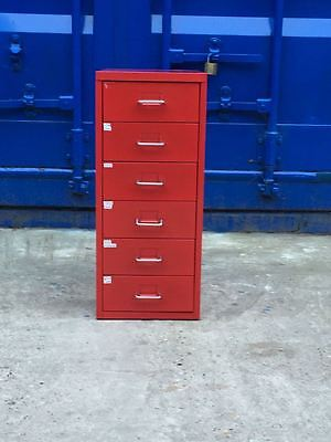 6 Multi Drawer Filing Cabinet - Red