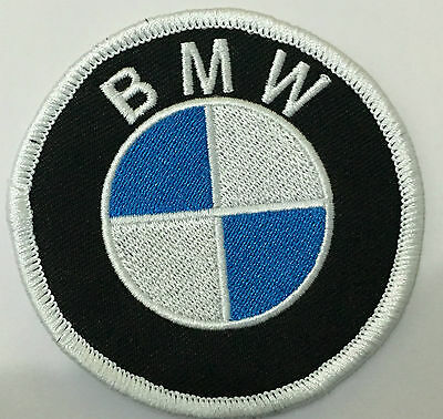 BMW round logo embroidered cloth patch.     B010201