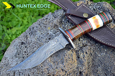 AUSSIE Hand Made Damascus Steel Hunting knife Fixed Blade *** THARIKA ***