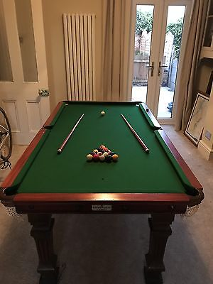 E. J Riley Antique 6ft Snooker Dining Table