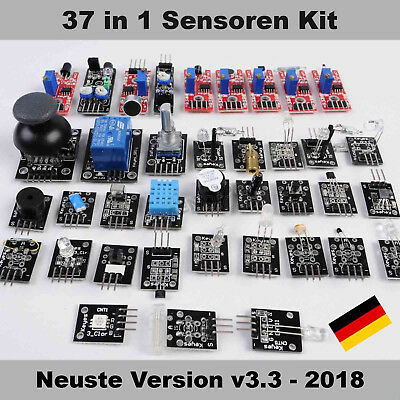 37 in 1 Sensoren Starter Kit Zip Module Bundle Pack Arduino Raspberry Pi Box Set