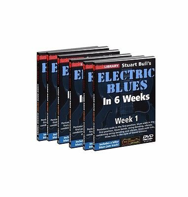 LICK LIBRARY  ELECTRIC BLUES BY - STUART BULL'S  IN 6 WEEKS (6 DVD Set)