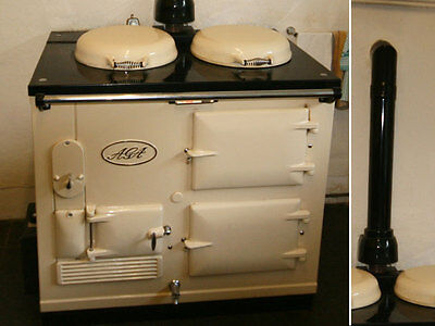 Aga Cooker - Fully Refurbished Two Oven Gas Aga CREAM