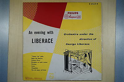 """VERY RARE!!! GEORGE LIBERACE An Evening With 10"""" (1950er!!!) EP# PHILIPS B 07613"""