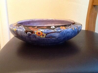 Royal Winton Grimwades  Art Deco Hand Painted Fruit Bowl, One Off