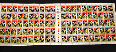 Full Sheet 100 Australian MNH 1980 St Vincent de Paul 22c Stamps - Clean & Tidy