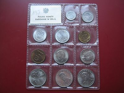Poland 1976 UNC 11 coin set 10 Groszy - 20 Zlotych sealed pack