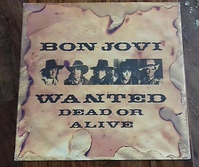 "Wanted Dead or Alive / Shot Through the Heart - Bon Jovi (12"" Single, 1986)"