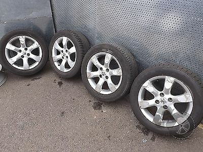 "Peugeot 307 (2001-2009) 16"" 4x Alloy Wheels + Tyres 205/55 R16 ref.MM17"