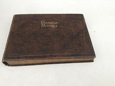 Vintage Cigarette Pictures Album, Brown, 25 Pages, Empty, Holds 500 Cards
