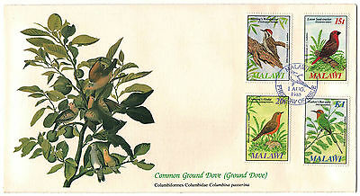 """Malawi 1985 Very Fine FDC """" Birds of the World"""" Common Ground Dove (Grownd Dove)"""