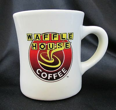 Waffle House Coffee Cup Mug Tuxton 8oz Thick White Color Logo Advertising