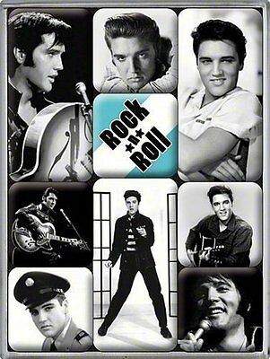 Elvis Presley set of 9 mini fridge magnets na