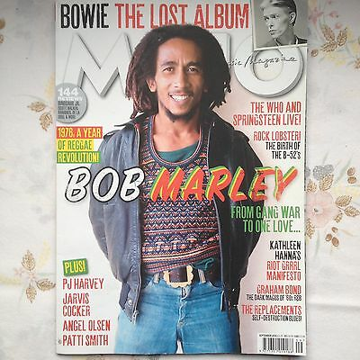 Mojo Magazine Sep 16 Reggae Marley Bowie Replacements Who VG Cond Opened no CD