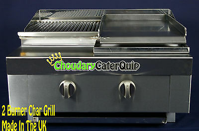 Brand New! 2 Burner Gas Char Grill Table Top Commercial Use