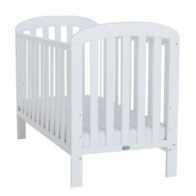 Baby Weavers Anna White Cot with Deluxe Spring Mattress and Accessories