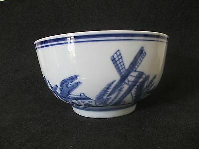 Delft-Style Pattern Blue And White China Bowl