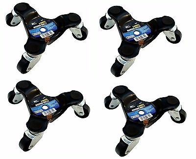 4 x 3 Wheel Moving Dolly Heavy Appliance Furniture Movers Castors Roll 60kg
