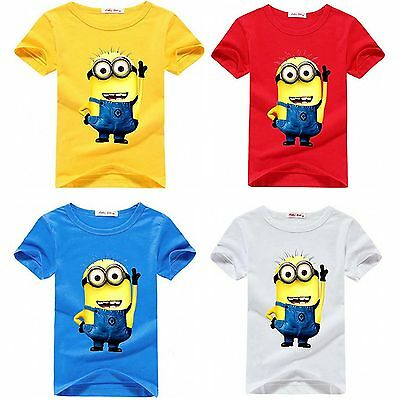 Kids Boys Despicable Me T-shirts Minions Baby Boys Tshirt Girls short T-shirt