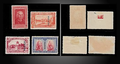 1928 -1930 Lot Of 4 Stamps Specimen = Muestra - Different Period Mint Hinged