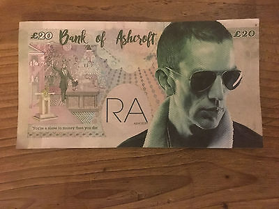 Richard Ashcroft ,Bank of Ashcroft £20 note, London O2 Arena