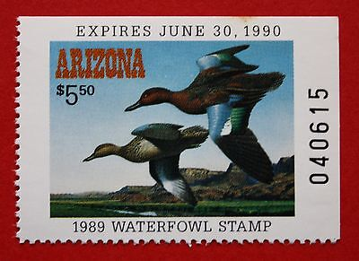 CLEARANCE: (AZ03) 1989 Arizona State Duck Stamp