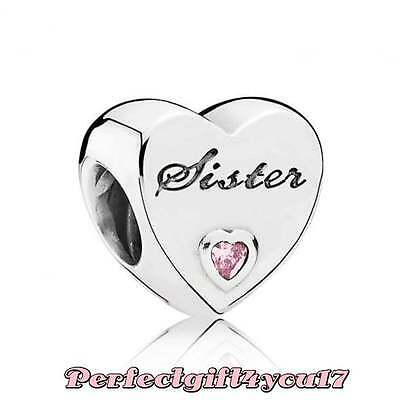 Genuine Pandora Sister Charm Bead ☆ With Box and Tissue Paper ☆