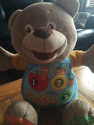 Chicco Educational Electronic Count With Me Teddy Bear Speaks English & French