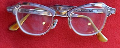 Vintage Bausch & Lomb Cat Eye Glasses,  Aluminum Frames