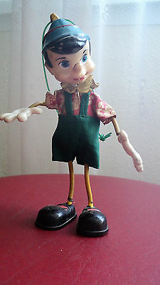Rare Old Vintage Smoking a Cigar Wire Pinocchio Figures