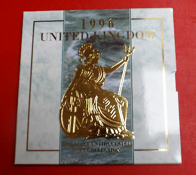 1996 Brilliant Uncirculated Decimal Coin Set All Packaging And Paperwork