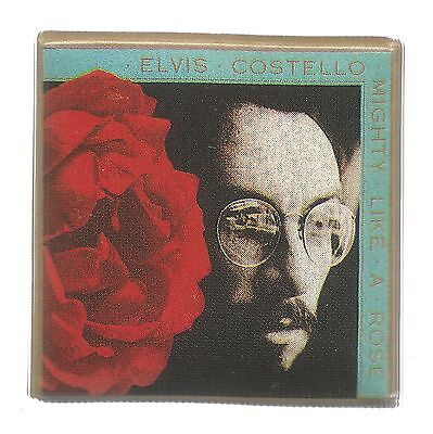 Mighty Like A Rose Concert Pin * by Elvis Costello (1991, Pin Back)