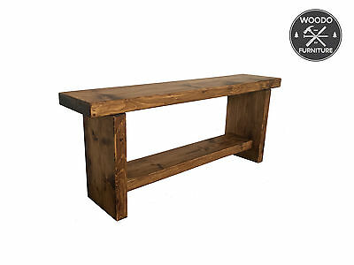 Reclaimed Wood Rustic Solid Pine Wooden Dining Plank Table Chair Bench Farmhouse