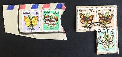 beautiful used stamps butterfly Kenya / Kenia